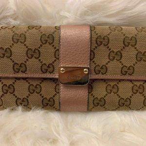 Monogram Gucci Long Wallet